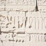 Hieroglyphic relief in the Temple of Karnak — Stock Photo