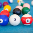 Stock Photo: 2011 made of billiard-balls
