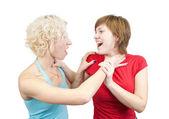 Young women in quarrel — Stock Photo