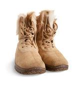 Shammy fur boots — Stock Photo