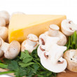 Mushroom with cheese — Stock Photo #3841162
