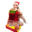 Sexy girl with present boxes — Stock Photo #3842368