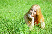 Red-haired teen girl — Stock Photo