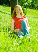 Red-haired teenager girl — Stock Photo