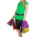 Girl holding shopping bags — Stock Photo
