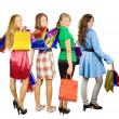 Girls holding shopping bags — Stock Photo #4102046