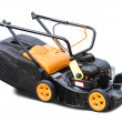 Yellow lawn mower — Stock Photo
