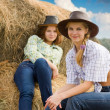 Farm girls at field — Stock Photo #4107129