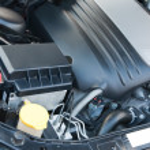 Engine of modern vehicle — Stock Photo
