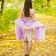 Girl in autumn — Stock Photo #4109999