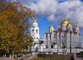 Assumption cathedral at Vladimir in autumn — Stock Photo