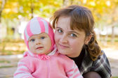 Portrait of mother with baby i — Stock Photo