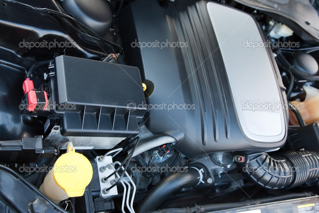 The new  fuel engine of modern vehicle — Foto de Stock   #4109541