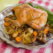 Постер, плакат: Whole stuffed chicken