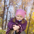 Stock Photo: Girl against autumn nature