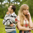 Stock Photo: Young couple having quarrel