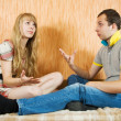 Young couple having quarrel — Stock Photo #4111023