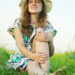 Stock Photo: Teen girl in hat