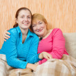 Woman and her adult daughter — Stock Photo