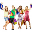 Girls holding shopping bags — Stock Photo #4111895