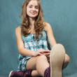 Stock Photo: Beauty teenager girl