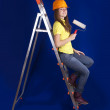 Royalty-Free Stock Photo: Female house painter