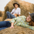 Country girls - Stock Photo