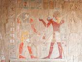Falcon-με επικεφαλής horus και Φαραώ — Φωτογραφία Αρχείου