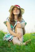 Teen girl in hat — Stock Photo