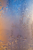Frosty window — Stock Photo