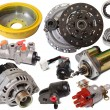 Set of auto parts — Stock Photo