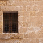 Window with old lattice — Stock Photo