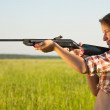 Aiming girl — Stock Photo #4609705