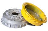 Auto brake wheels — Stock Photo