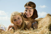 Portrait of country girls — Stock Photo
