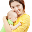 Happy mother with her newborn baby — Stock Photo #4613419