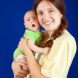 Happy mother with 3 month baby — Stock Photo #4617219