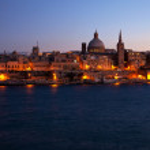 Night view of Valletta, Malta — Stock Photo #4617691