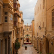 Street in old Valletta — Stock fotografie