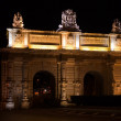 Floriana Gate in night — Stock Photo