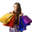 Girl with shopping bags — Stock Photo #4619137