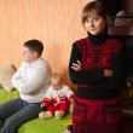 Family having quarrel — Stock Photo