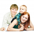 Happy family from three — Stock Photo