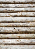 Pine balk wall — Stock Photo