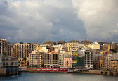 St. Julian's from sea side. Malta — Stock Photo