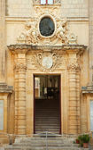 Entrance in to medieval palace — Stock Photo