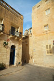 Picturesque houses of Mdina — Stock Photo