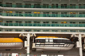 Closeup of cruise liner — Stock Photo