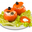 Cooked stuffed tomato salad — Stock Photo