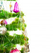Stock Photo: Half of Christmas fir tree